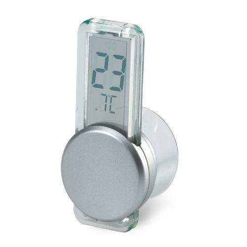 Thermomètre LCD  avec ventouse - argenté