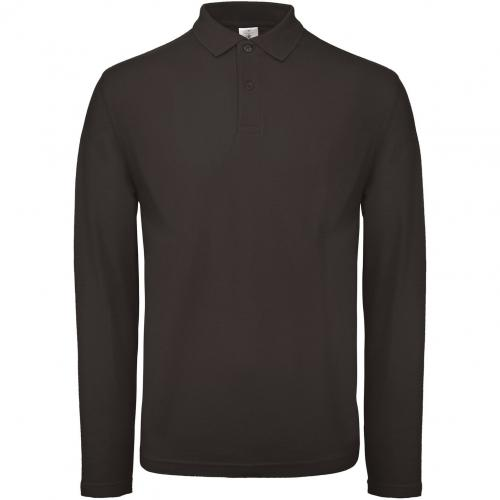 Polo homme ID.001 manches longues - noir