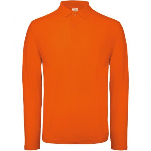 Polo homme ID.001 manches longues - orange