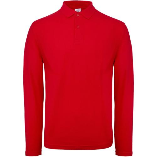Polo homme ID.001 manches longues - rouge
