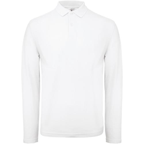Polo homme ID.001 manches longues - blanc