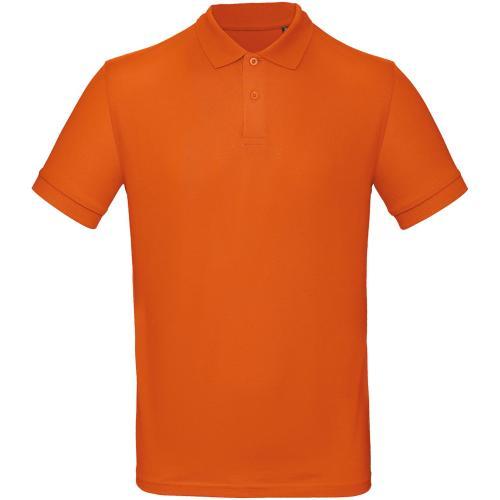 Polo bio homme - orange foncé