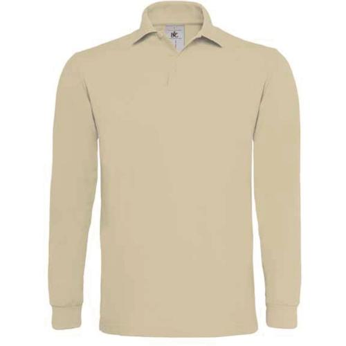 POLO HOMME MANCHES LONGUES HEAVYMILL - sable