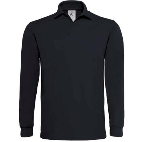 POLO HOMME MANCHES LONGUES HEAVYMILL - noir