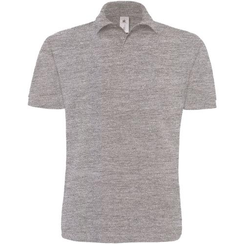 POLO HOMME HEAVYMILL - gris chiné