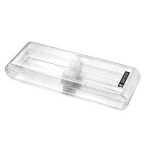 Etui 2 places en plastique transparent
