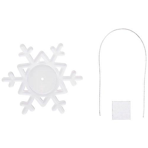 Décoration Elssa en forme de flocon de neige - blanc translucide