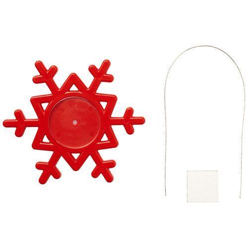 Décoration Elssa en forme de flocon de neige - rouge