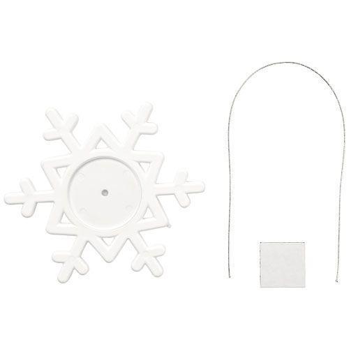 Décoration Elssa en forme de flocon de neige - blanc