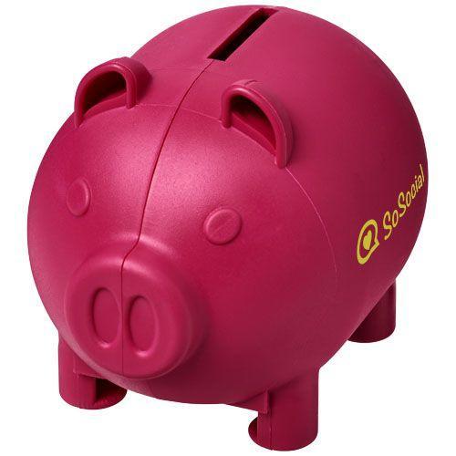Petite tirelire en forme de cochon Oink - magenta