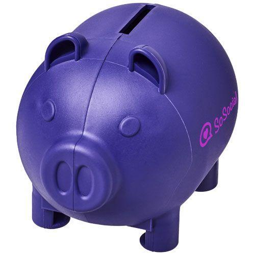 Petite tirelire en forme de cochon Oink - violet
