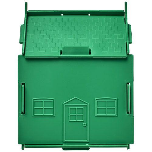 Tirelire plastique Uri en forme de maison - vert
