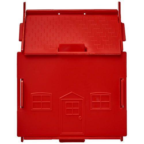 Tirelire plastique Uri en forme de maison - rouge