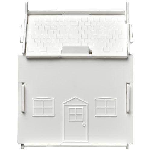Tirelire plastique Uri en forme de maison - blanc