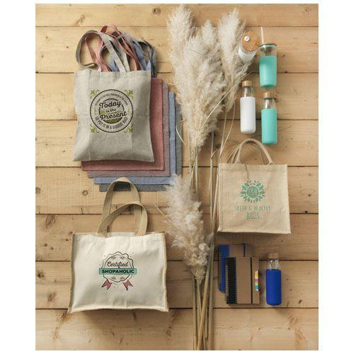 Sac shopping en coton recyclé Pheebs 150 g/m² - marron chiné