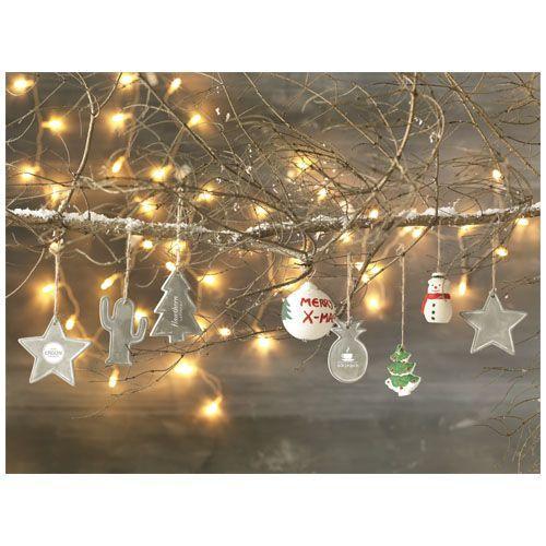 Décoration sapin de Noël Seasonal - gris