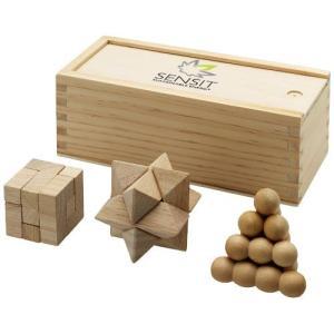 Casse-tête chinois Brainiac 3 pièces en bois