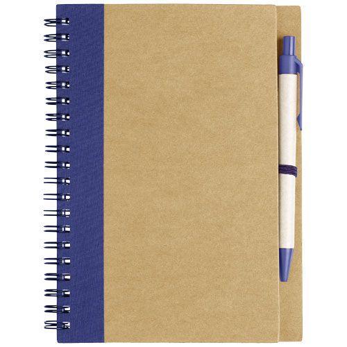 Carnet de notes recyclé avec stylo Priestly - bleu marine