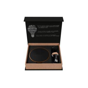 chargeur à induction lumineux en bois FSC & rubber - Import