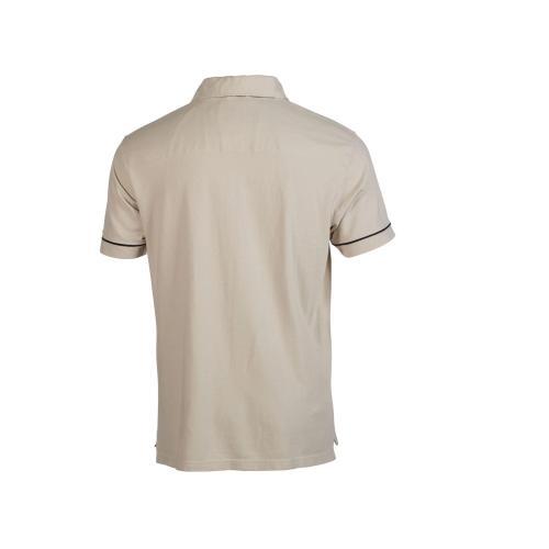 Polo coton col zippé - beige