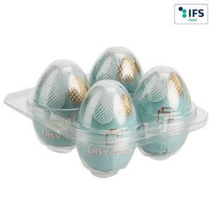 Boîte à œufs carrée pour 4 œufs sans banderole
