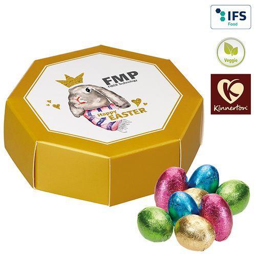 Boîte cadeau octogonale avec des œufs au chocolat de Kinnerton -