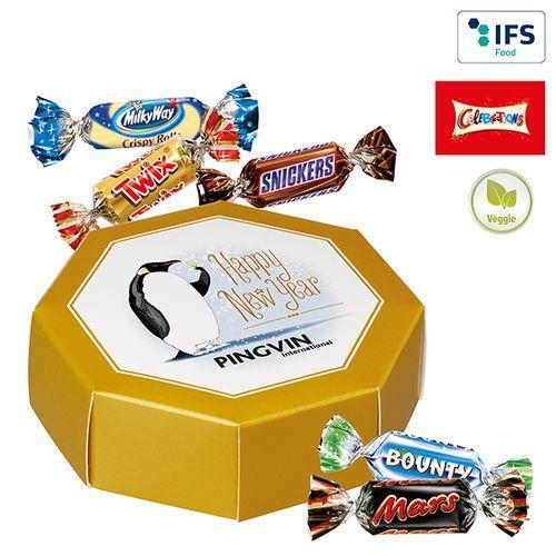 Boîte cadeau octogonale avec des Celebrations® -
