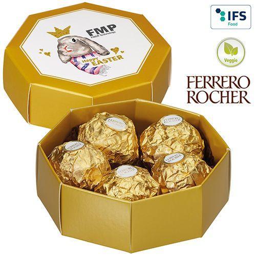 Boîte cadeau octogonale avec cinq Ferrero Rocher -