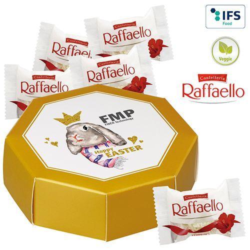 Boîte cadeau octogonale avec cinq Raffaello -