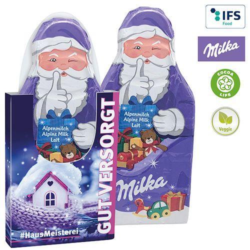 Tablette de chocolat du Père Noël de Milka -