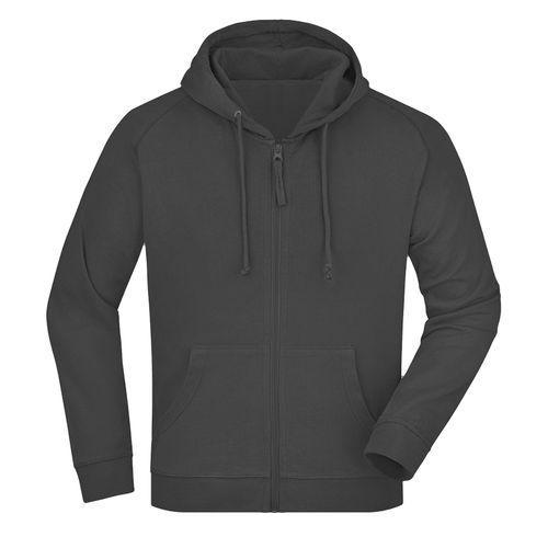 Sweat-shirt capuche recyclé fabrication Turquie - graphite