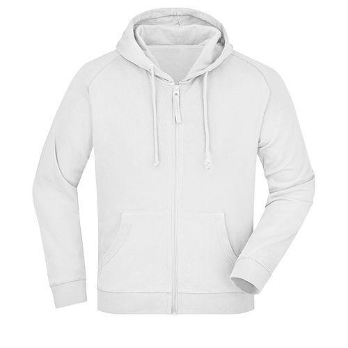 Sweat-shirt capuche recyclé fabrication Turquie - blanc