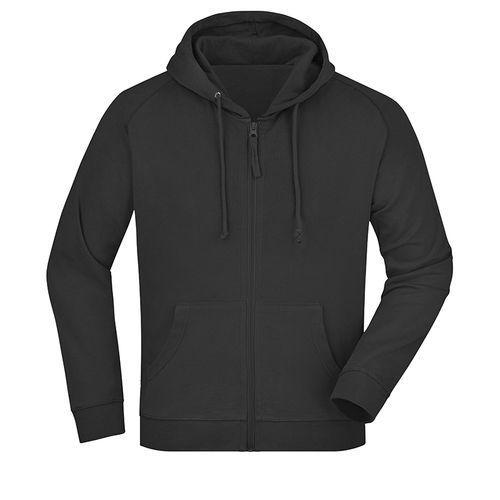 Sweat-shirt capuche recyclé fabrication Turquie - noir
