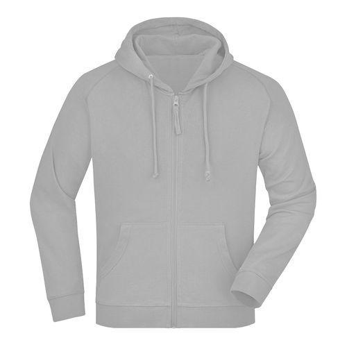 Sweat-shirt capuche recyclé fabrication Turquie - gris clair