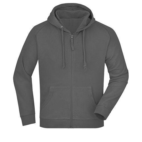 Sweat-shirt capuche recyclé fabrication Turquie - gris foncé
