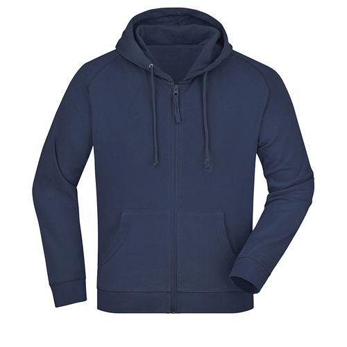 Sweat-shirt capuche recyclé fabrication Turquie - bleu marine