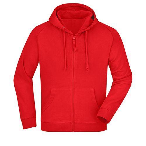 Sweat-shirt capuche recyclé fabrication Turquie - rouge