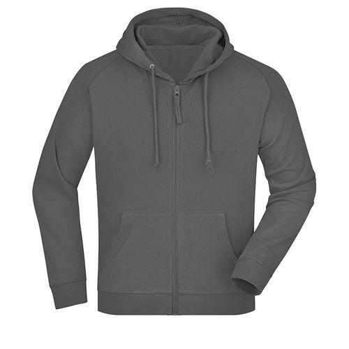 Sweat-shirt capuche recyclé fabrication Turquie - anthracite