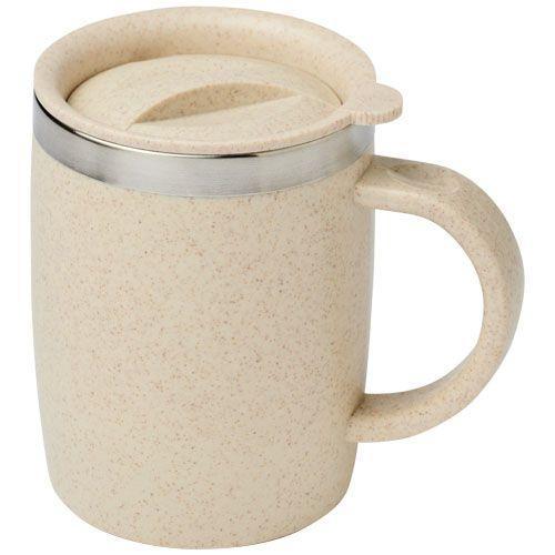 Tasse 400 ml en paille de blé Wey - naturel