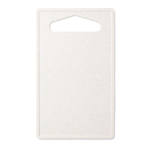 Planche à découper bambou / PP - blanc