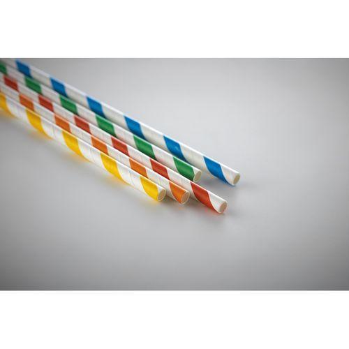 10 pièces de paille de papier - multicolore