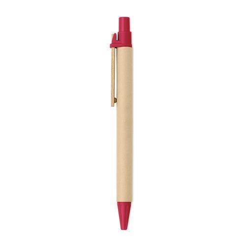 stylo à bille bois /PLA maïs - rouge