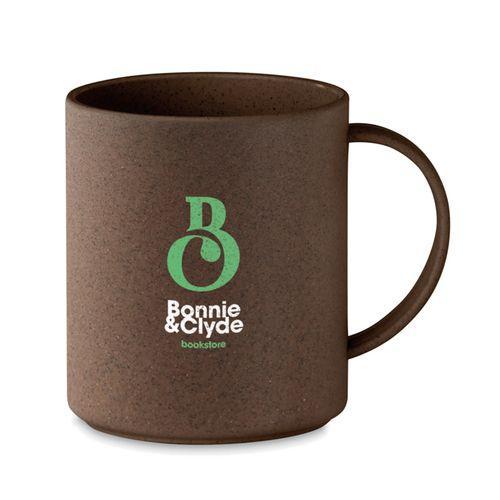 Mug 300ml en cosse de café/PP - marron