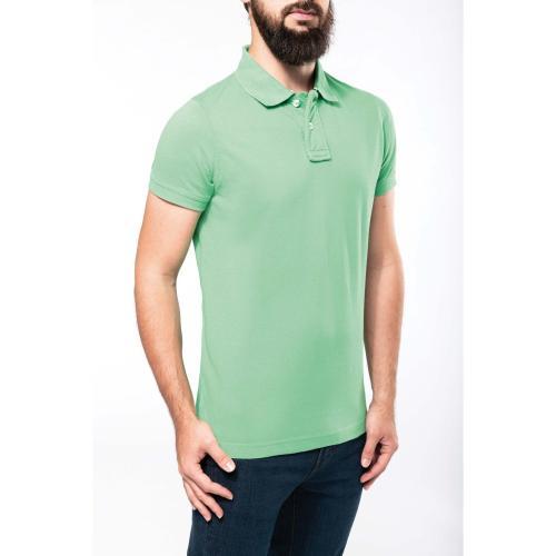 POLO MANCHES COURTES - vert vintage