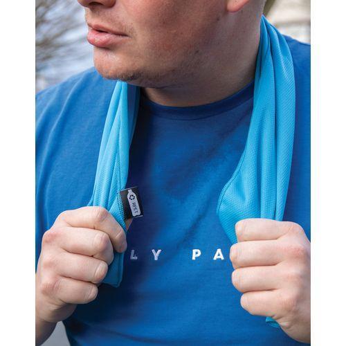 Serviette de sport rPET dans une pochette - bleu