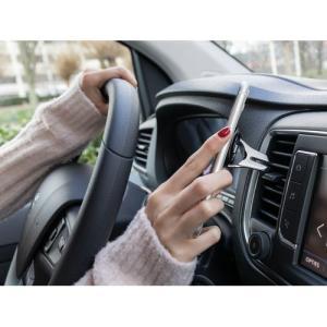 Support téléphone pour grille d'aération voiture avec anneau