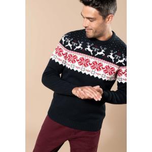 Pullover motif cerf