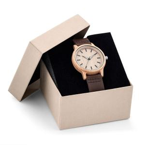 Montre WOODY cuir stock france
