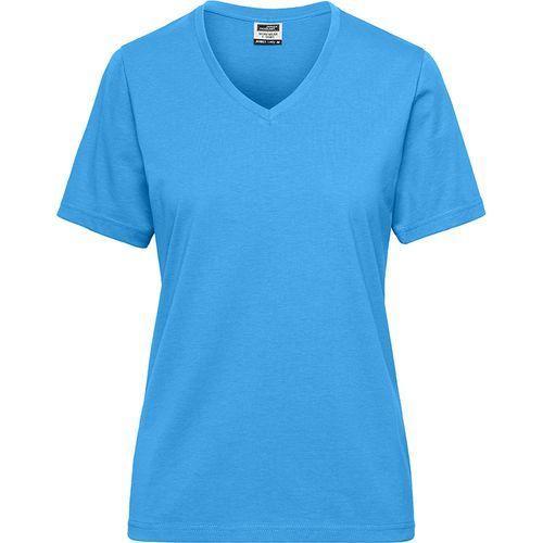 Tee-shirt workwear Bio Femme - bleu aqua
