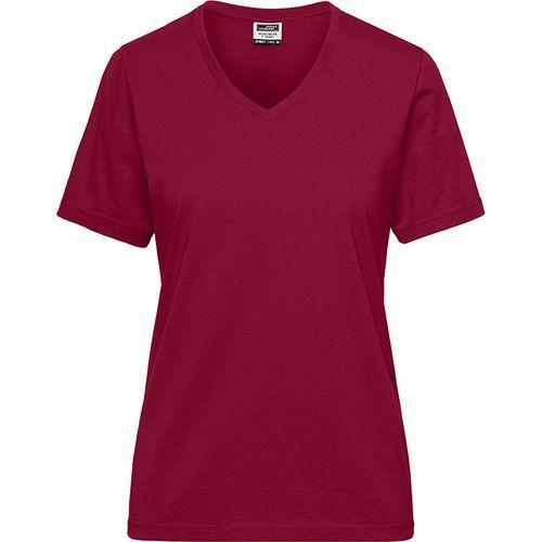 Tee-shirt workwear Bio Femme - lie de vin